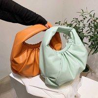 2021 Soft PU Leather Large Capacity Underarm Shoulder Bag Female Trendy Handbag Solid Color Luxury Designer Big Tote Bag