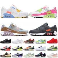 scarpe nike air max 90 air 90 nike 90 Scarpe da corsa da uomo di alta qualità Scarpe da ginnastica da donna di grandi dimensioni 12 Scarpe da ginnastica corte viola Black
