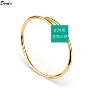 Donia jewelry luxury bangle nail bracelet ring opening titanium steel micro-inlaid zircon gift from European and American fashion designers
