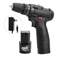 Professiona Electric Drills 18V Screwdriver Cordless Drill High-power Lithium Battery Wireless Rechargeable Hand Home DIY Power Tools