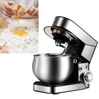304 Stainless Steel Stand Mixer 5 Liters Dough Machine Electric Dough Mixer Milkshake Cake Mixer Kneading Chef Machine 1200W