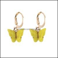 Stud Jewelrystud Fashion Gold Color Butterfly Earrings For Women Metal Geometric Alloy Earings Jewelry Bijoux Femme Drop Delivery 2021 0T4Oh
