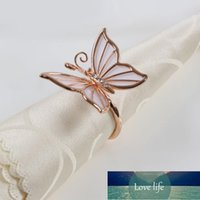4 pcs New Arrvials Casamento mesa decoração borboleta elegância frisada round guardanapos anéis de ouro banhado a prata-banhado de prata Preço de fábrica opcional