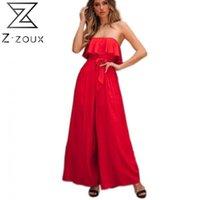 المرأة بذلة الكشكشة ضمادة قبالة الكتف السروال القصير المرأة الأحمر الأبيض الأخضر زائد حجم طويل الصيف S 210524