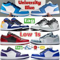 UNC Low Basketball shoes University blue reverse bred shadow light smoke grey Travis Scotts Men sport sneakers hyper royal yellow baned women trainers