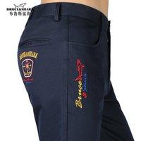 Bruce Shark 2021 pantalones de invierno hombres jeans clásicos casuales pantalones largos pasteles de algodón de algodón bordado del bordado de la pierna caliente pantalón espesar el tamaño 28 a 40