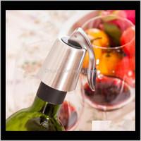 Другие продукты Barware Кухня, Обеденный сад Drop Доставка 2021 Из Нержавеющей Стали Вакуумный Запечатанный Красный Винный Хранение Бутылка Бутылка Заставка Уплотнитель