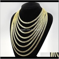 Chains 16Inch 18Inch 20Inch 22Inch 24Inch 26Inch 28Inch 30Inch Miami Cuban Link Chain Mens Hip Hop Necklace Jewelry Gynpg Iqn31