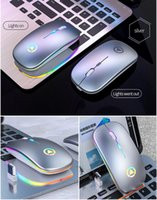 A2 mouse charging mices wireless silent luminous USB optical ergonomic office computer gaming notebook LED