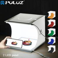 8,7 pouces Stands de lumière Booms Portable Lightbox Photo Studio Box Tabletop Tirage de tir Boîtes Boîtes Photographie Softbox Set pour les articles Affichage
