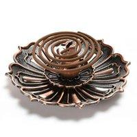Duftleuchten Vintage Legierung Exquisite Accessoires Dekorationen Weihrauch Stick Halter CENTER Teller 9 Löcher Home Lotus Form Geschenk einzigartig