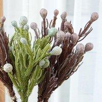 42 cm Artificial Coral Fruit Flowing Plant Flowers Sala de estar Decoración Accesorios florales Corona decorativa