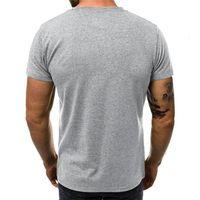 Erkek T-Shirt Kollu Nefes Tops Yaz Giyim Kırmızı Siyah Mektup Baskılı Degrade Erkek Tshirt Rahat Kısa