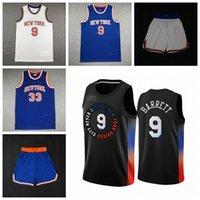 "Basketball-Trikots Julius 30 Randle RJ 9 Barrett New ""York"" Knicks ""Jersey 2021 Herren 730"