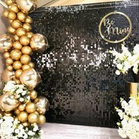 Party Decoration Aluminum Foil Sequin Wall Glitter Backdrop Curtain Birthday Background Wedding Decor Baby Shower