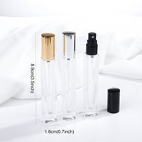 10ML Perfume Bottle Sub-bottle Spray Empty Bottle Metal Lid Transparent Filling Bottle Portable Travel Cosmetic Accessories VTKY2136