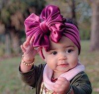 Baby, Kids Maternity Drop Consegna 2021 Veet Turban Big Bowknot Baby Girl Fascia per Born Brow Band Bambini Bambini Bambino Capo Avvolgibile Avvolgimento