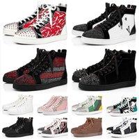 С Box красный донца большой размер компании 13 luxurys дизайнеров мужской женская повседневная обувь платформы кроссовки шипы все черные красные нижние плоские трейнеры