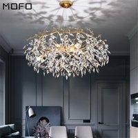 Chandeliers Nordic Indoor Dining Room LED Chandelier Lighting Living Kitchen Ceiling Lustre Large Crystal Modern