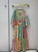 Milan Runway dresses 2021 O Neck Long Sleeve High End Jacquard Designer dress Brand Same Style Dress 1218-4