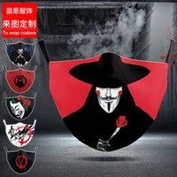 Hochwertige Masken Anime Spiel V Word Hass Team Gleiche Erwachsene Maske Sommer Dünnstaub Atmungsaktiv Waschbar Mode Net Rot
