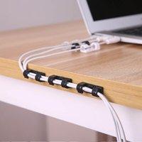 Ganci Bilance Cavo USB Organizer Scrivania Organizzatori Plastica Avvolgitore Protezione Ties Autoadesion Cavo cavo