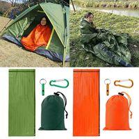 Sleeping Bags Outdoor Camping Waterproof Moisture-proof Tent Bag With Storage Trekking Survival Carabiner Emergency Whistle