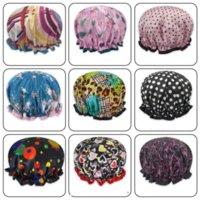 24 часа доставки !! Широкие корпусные шапки для душа ванна Водонепроницаемые двойные слои атласная ткань для волос BONNETS ROUND CONTED HATS Head Wrap Products Products Gyq