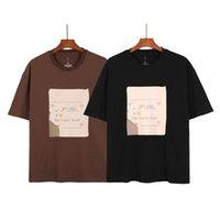2021 Printemps Summer Hommes T-shirt High Street Scott Cactus Style Courte Manches Courtes Ronde Mode Lettre de mode imprimée Tshirt Tshirt Taille S-XL M21