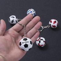 Mini Football Keychain Pendant Stainless Steel Luggage Decoration Key Chain Creative Fan Souvenir Gift Keyring OWA8880