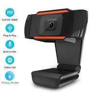 HD 웹캠 웹 카메라 USB PC 웹캠 내장 마이크 30FPS 1080P 720P 480P