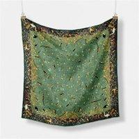 Scarves 53CM Birds Floral Print Twill Silk Scarf Women Fashion Neckerchief Original Design Small Hijab Wraps For Female Soft Shawl