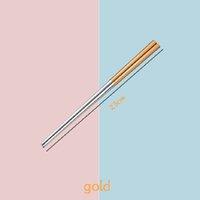 Из нержавеющей стали палочки для палочек металлические Chop Sticks рассеянки серебряные золотые многоцветные посуды Свадьба Фестиваль для вечеринок ZZE6149