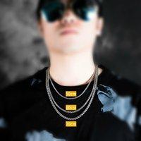 Halskette S925 Metallherstellung 3mm, 4mm, 5mm Drache Kielkette als Männer und mit Holzkiste