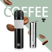 Recafimil 350ML الفرنسية الصحافة المحمولة قهوة الصحافة صانع تارففل مع القهوة الغطاس تصفية القدح وعاء وعاء طاحونة 210408