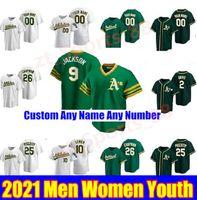 2021 Oakland Hommes Femmes Jeunes enfants Matt Olson Baseball Jerseys Chapman Reggie Jackson Rickey Henderson 50 Mike Fiers 2 Khris Davis Jersey