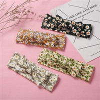 Girls Hair Accessories Baby Headbands Flower Children Kids Head Bands Elastic Knitted Cotton Bow Hairband Accessory B7031