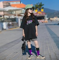 Summer Girls Letter Printed Short Sleeve T-shirt 2021 Designer children loose casual Tee fashion kids cotton tops A6431