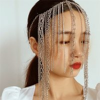 3 unids / lote mezclado estilo étnico cruzada cruzada hecha a mano multi capa borla gruesa cadena de pelo mujer geométrica diamante pelo joyería al por mayor