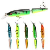 Minnow Fishing Lure 9G 10.5cm 멀티 조인트 섹션 크랭크 카트 바다 저음 하드 미끼 파이크 저크 Mait Pesca Carp 낚시