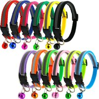 Cat Collars & Leads Reflective Nylon Dog Collar Night Safety Flashing Light Up Adjustable Leash Pet For Cats And Small Dogs Supplies