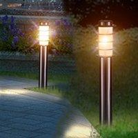 Лампы лужайки E27 из нержавеющей стали садовая лампа из нержавеющей стали Водонепроницаемый забор светодиодный столб света открытый внутренний двор виллы ландшафтные боллы