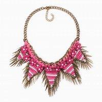 Design Chunky Colorful Bead Flower Collana pendente collana vintage catena di ritorno per le donne gioielli collane