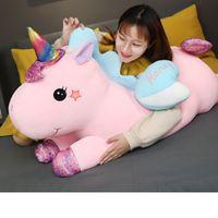 Unicorn Peluche Bambola del giocattolo 40-50 cm Love Heart Girl a Letto Pillow Girls Regalo di compleanno Decorazione della casa, alleviare il dolore durante il lavoro dell'ufficio, accompagnare il sonno dei bambini