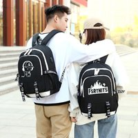 Backpack Personality Luminous Mens USB Charge Street Cloth Bag Teenager Letter Printing College Unisex Couple Rucksack DF458