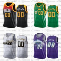 Jerseys de basquete personalizado UtahJazz45 Donovan.Mitchell 27 Rudy.Gobert qualquer nome e número swingman cidade jersey