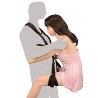 عشاق bdsm مجموعة زوجين سوينغ حزام مفتوحة الساق الجماع الجنسي عبودية الجنس لعب للبالغين