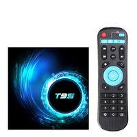 T95 스마트 TV 상자 안드로이드 10 4G 32GB 64GB 2.4G 5G 와이파이 블루투스 5.0 쿼드 코어 셋톱 박스 미디어 플레이어