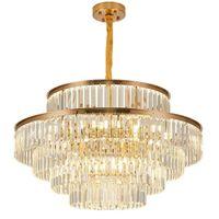 K9 Crystal Lustre 6 Couche Maison de Prestige Lampe de pendentif Luminaire d'intérieur pour la décoration de salon d'escalier