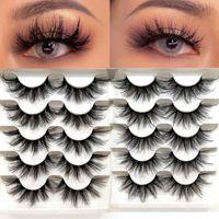 False Eyelashes 5 Pairs Faux Mink Wispy Fluffy Thick Handmade Natural Silk Lashes Cruelty-free Eyelash Extension Makeup Tool
